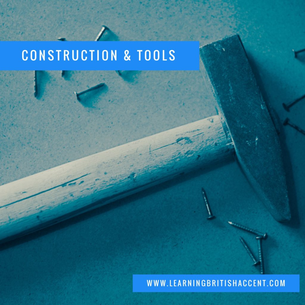 Construction and Tools English Vocab